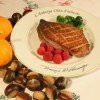 Grilled Goose Breasts with Chestnut Stuffing