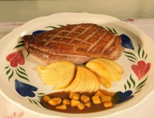 Duck Breasts with Calvados Sauce