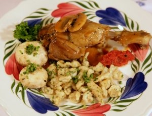 Braised Duck Legs with Spätzle