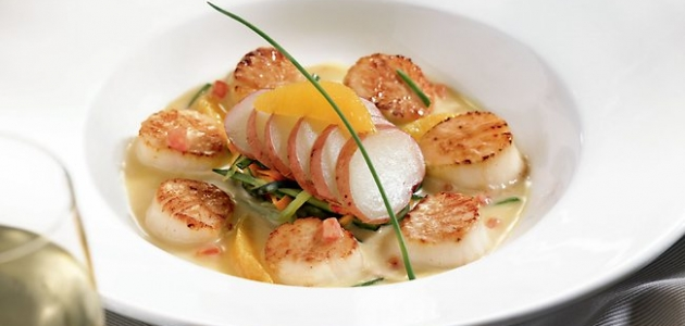 Diver Scallops in Citrus Sauce
