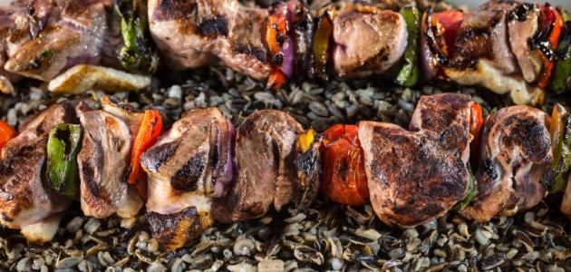 Grilled Wild Duck Kabobs with Wild Rice