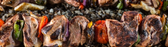 Grilled Wild Duck Kabobs with Wild Rice
